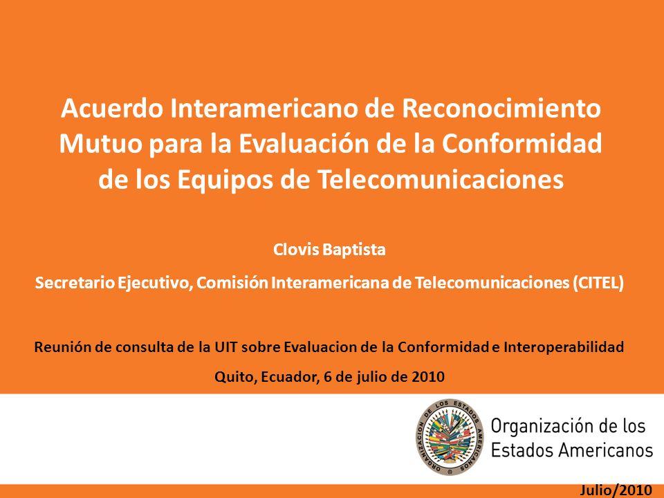 de los Equipos de Telecomunicaciones