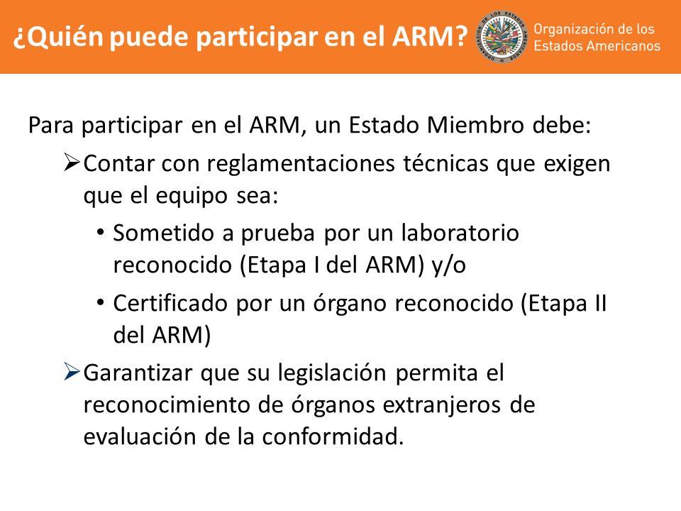 ¿Quién puede participar en el ARM