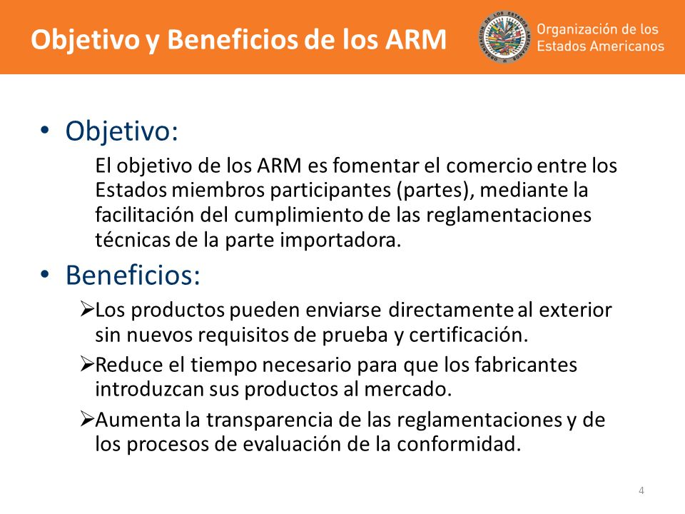 Objetivo y Beneficios de los ARM