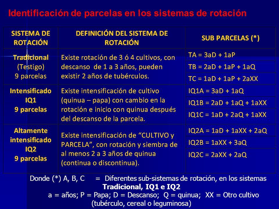 Identificación de parcelas en los sistemas de rotación