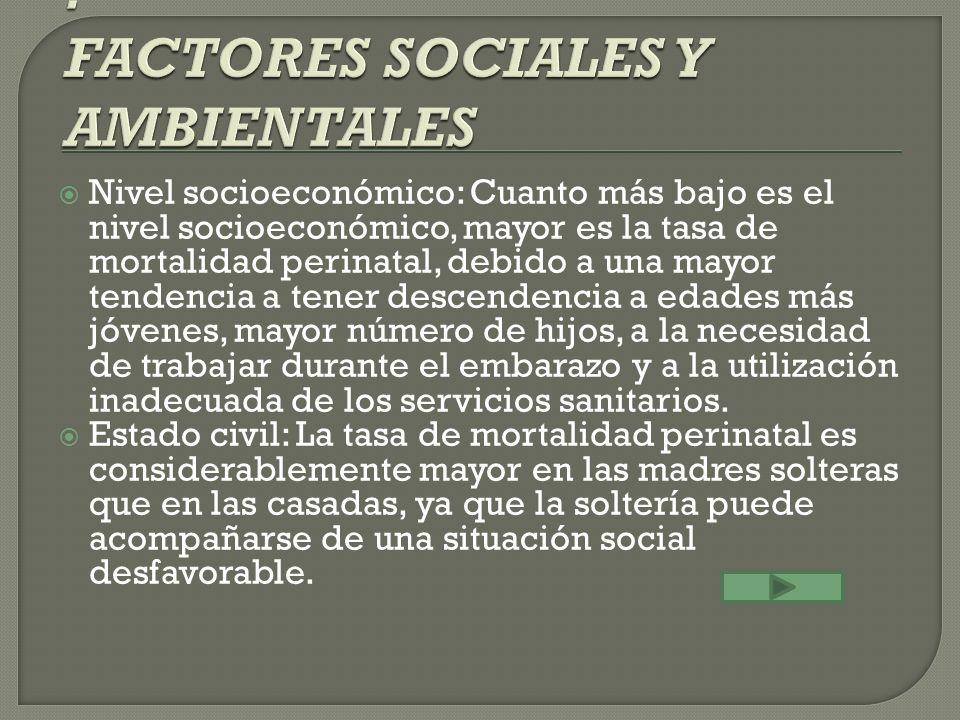 : FACTORES SOCIALES Y AMBIENTALES