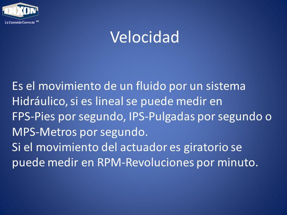 Velocidad Es el movimiento de un fluido por un sistema