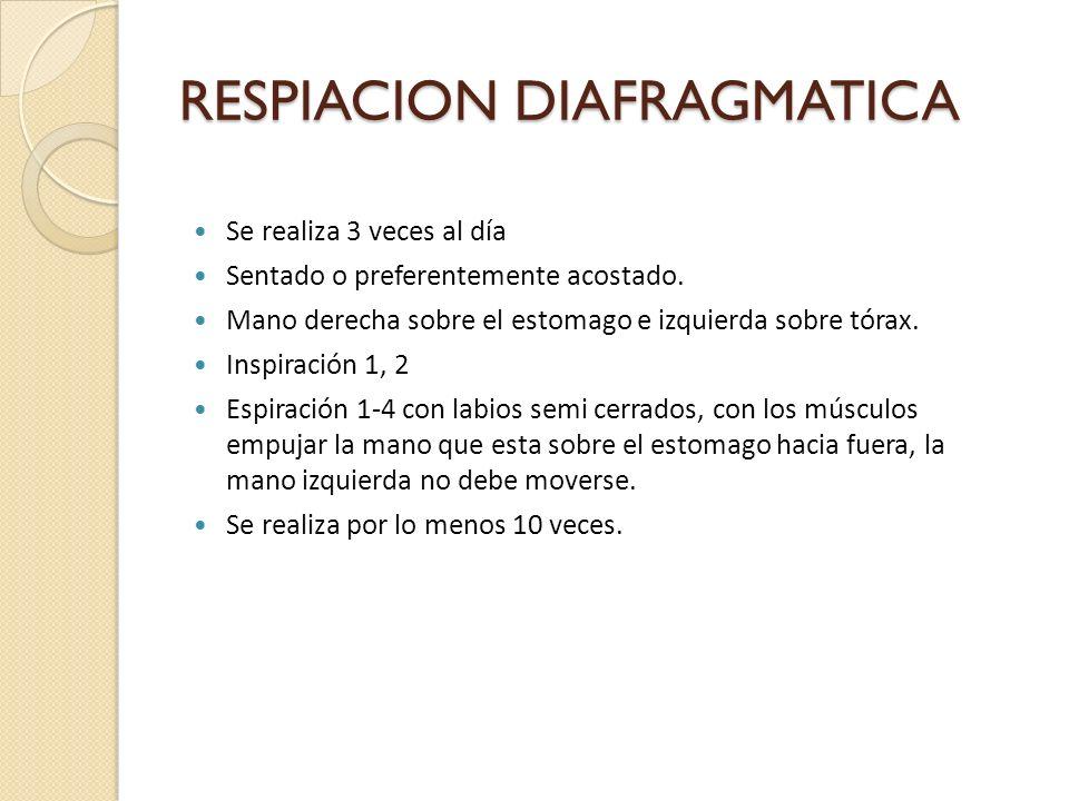 RESPIACION DIAFRAGMATICA