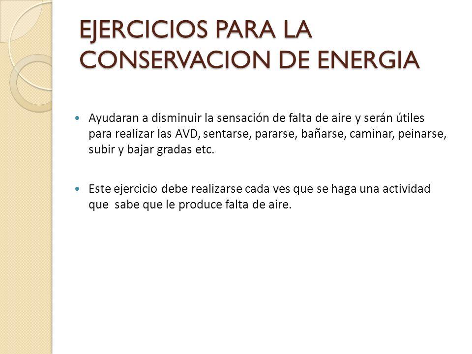 EJERCICIOS PARA LA CONSERVACION DE ENERGIA