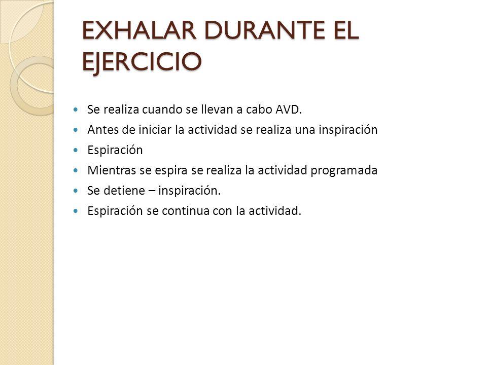 EXHALAR DURANTE EL EJERCICIO