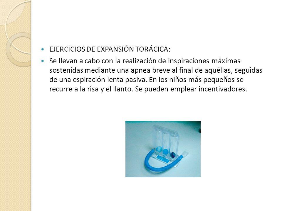 EJERCICIOS DE EXPANSIÓN TORÁCICA: