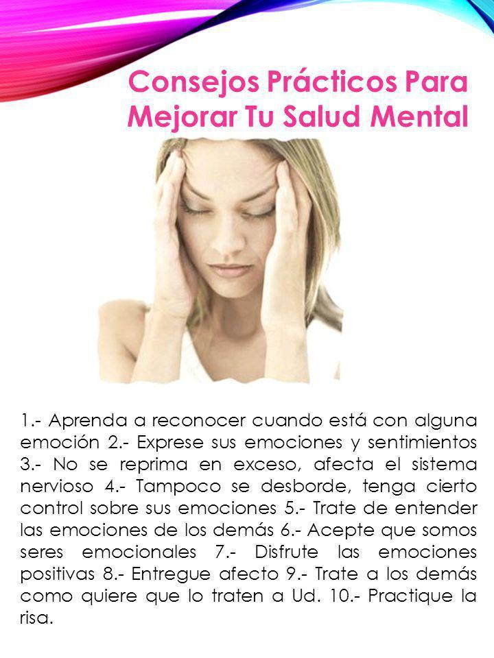 Consejos Prácticos Para Mejorar Tu Salud Mental