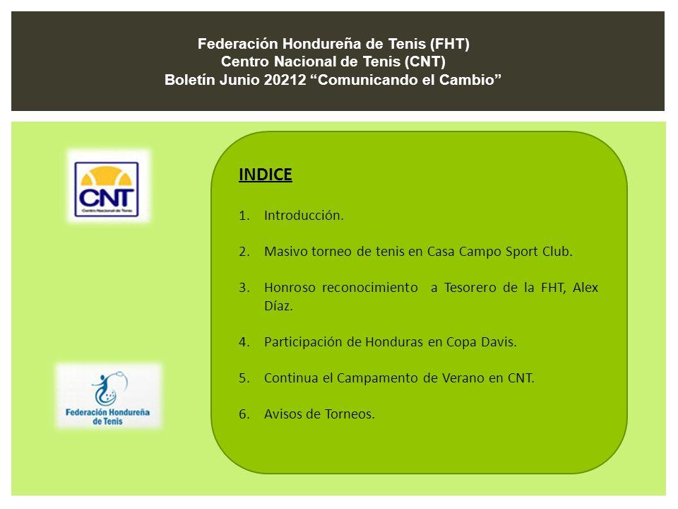 INDICE Federación Hondureña de Tenis (FHT)
