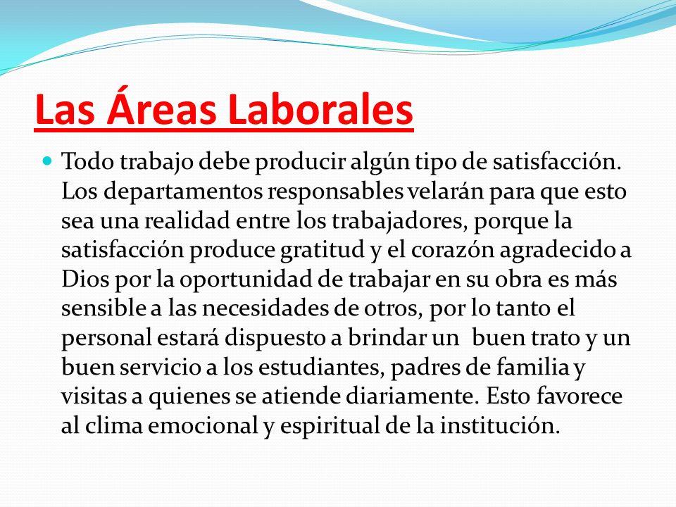 Las Áreas Laborales