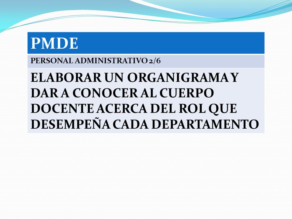 PMDE PERSONAL ADMINISTRATIVO 2/6.