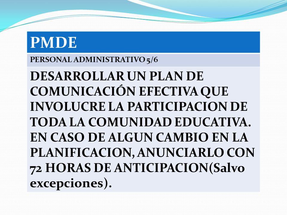PMDE PERSONAL ADMINISTRATIVO 5/6.