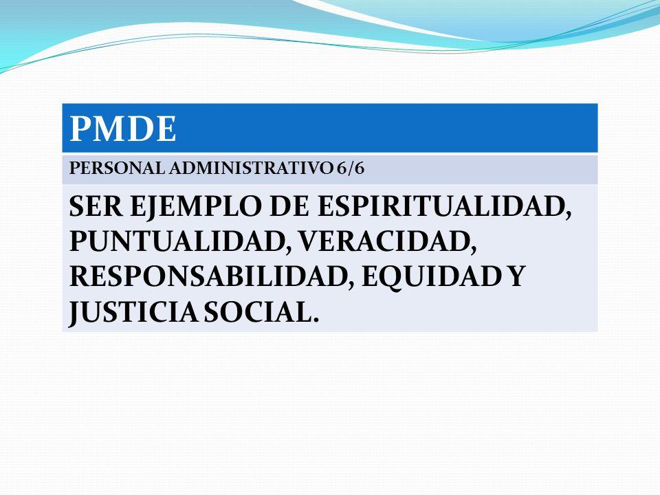 PMDE PERSONAL ADMINISTRATIVO 6/6.
