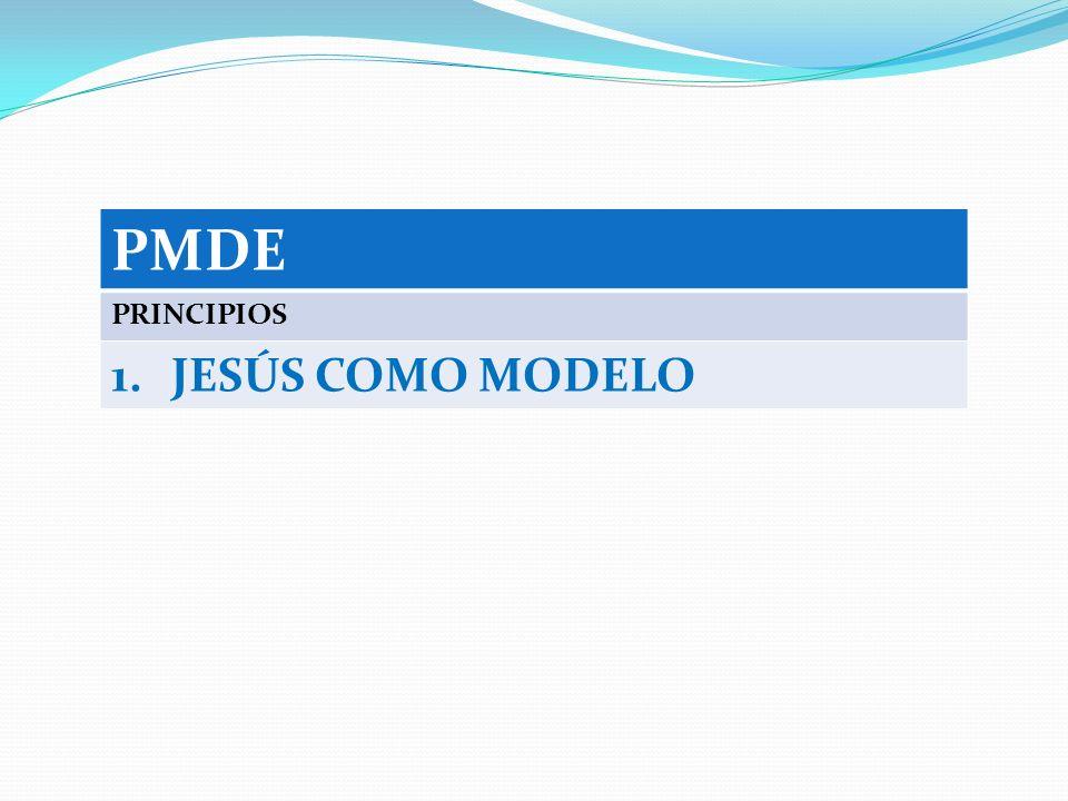 PMDE PRINCIPIOS JESÚS COMO MODELO