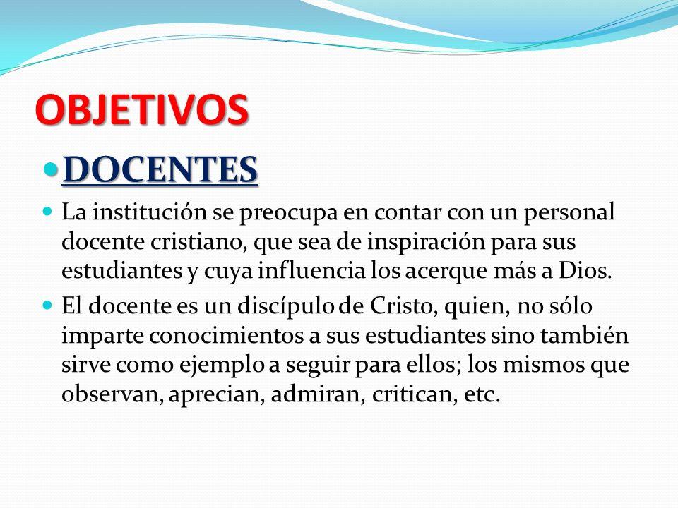 OBJETIVOS DOCENTES.
