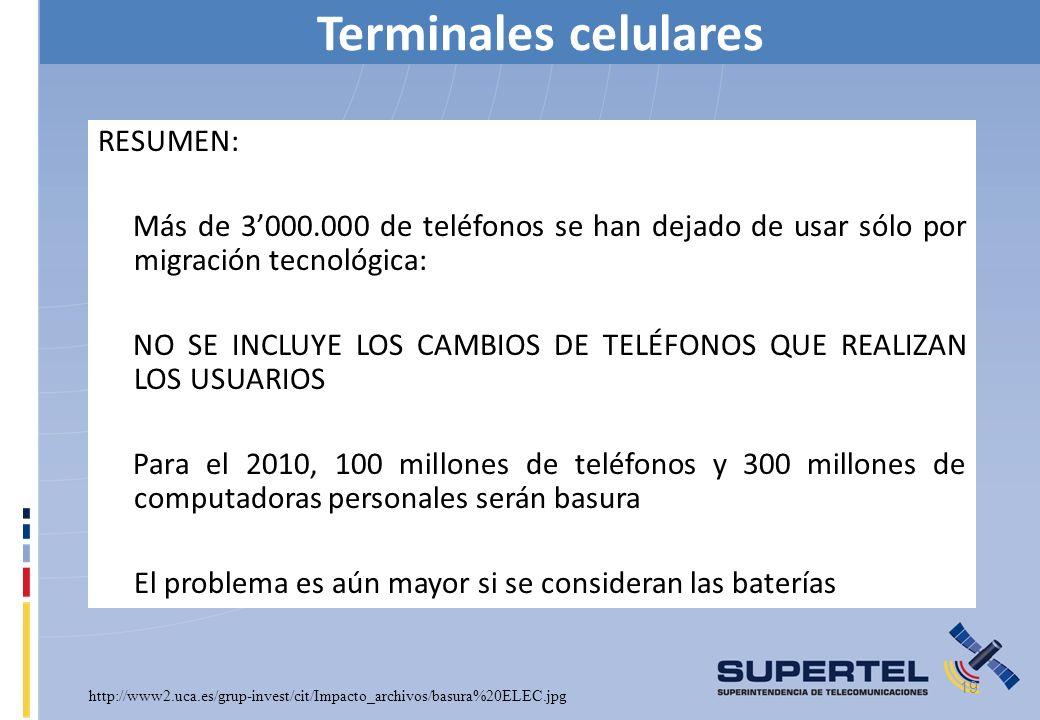 Terminales celulares RESUMEN: