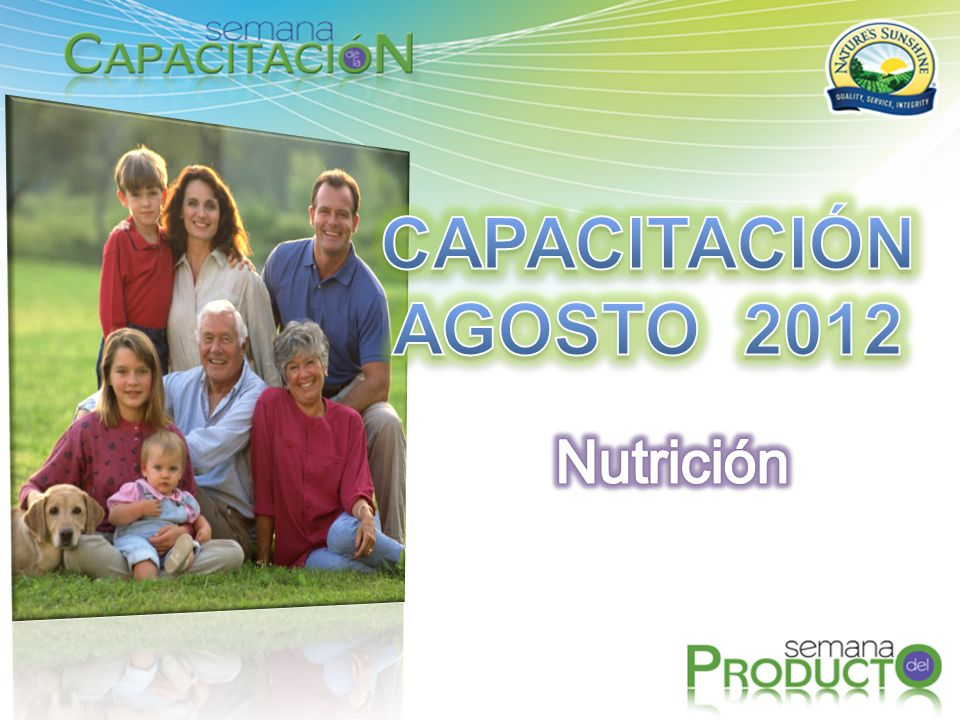 CAPACITACIÓN AGOSTO 2012 Nutrición
