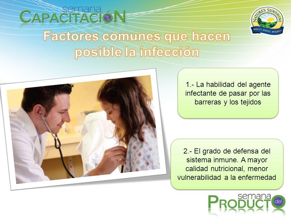 Factores comunes que hacen posible la infección