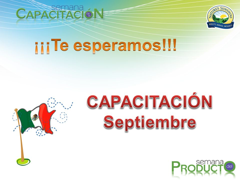 ¡¡¡Te esperamos!!! CAPACITACIÓN Septiembre