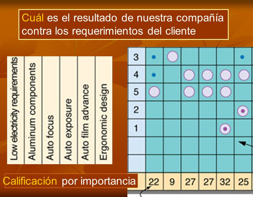 Calificación por importancia