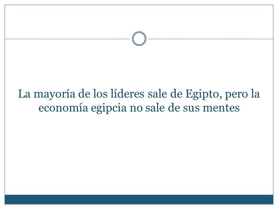 La mayoría de los líderes sale de Egipto, pero la economía egipcia no sale de sus mentes