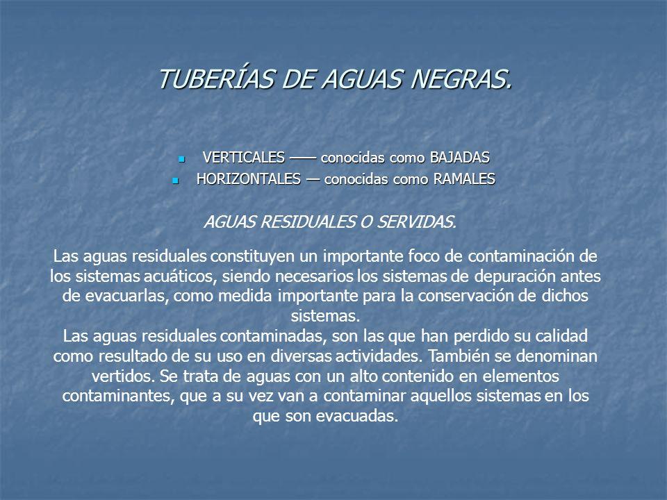 TUBERÍAS DE AGUAS NEGRAS.