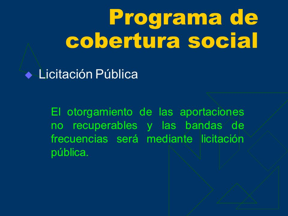 Programa de cobertura social