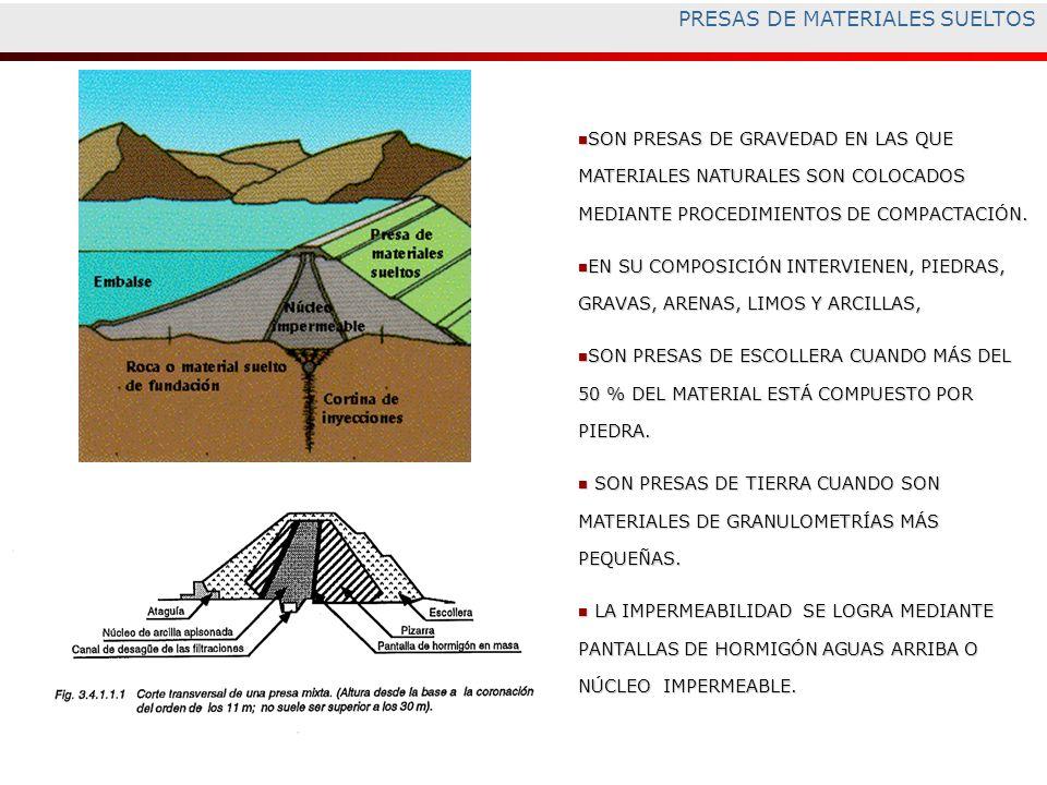 PRESAS DE MATERIALES SUELTOS