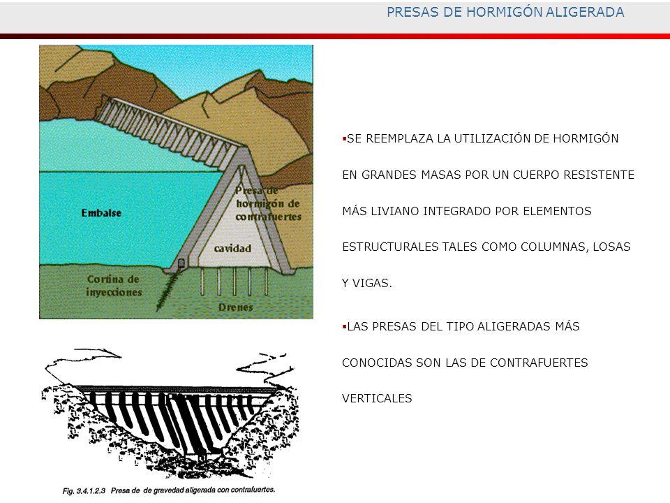 PRESAS DE HORMIGÓN ALIGERADA