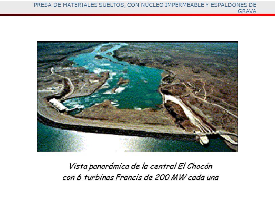 Vista panorámica de la central El Chocón