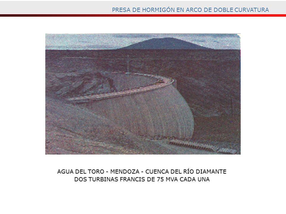 PRESA DE HORMIGÓN EN ARCO DE DOBLE CURVATURA