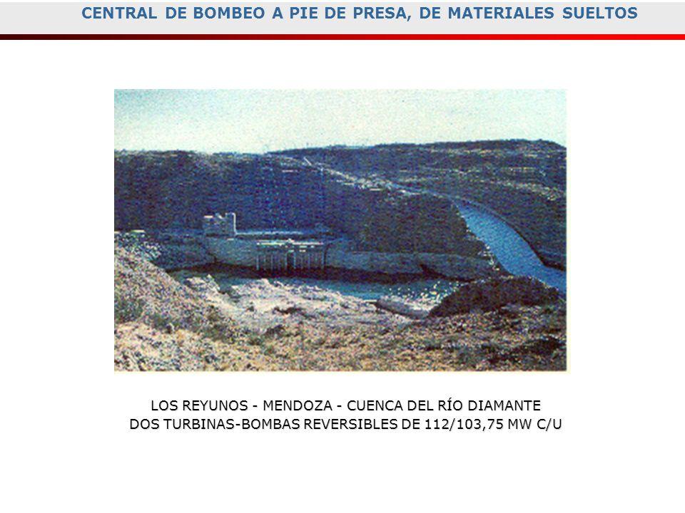 CENTRAL DE BOMBEO A PIE DE PRESA, DE MATERIALES SUELTOS
