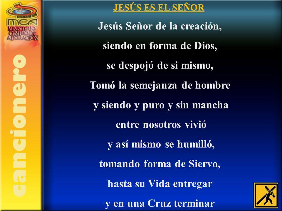 Jesús Señor de la creación, siendo en forma de Dios,