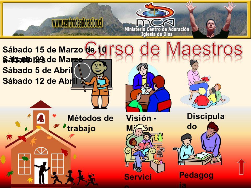 Curso de Maestros Sábado 15 de Marzo de 10 a 13.00 hrs