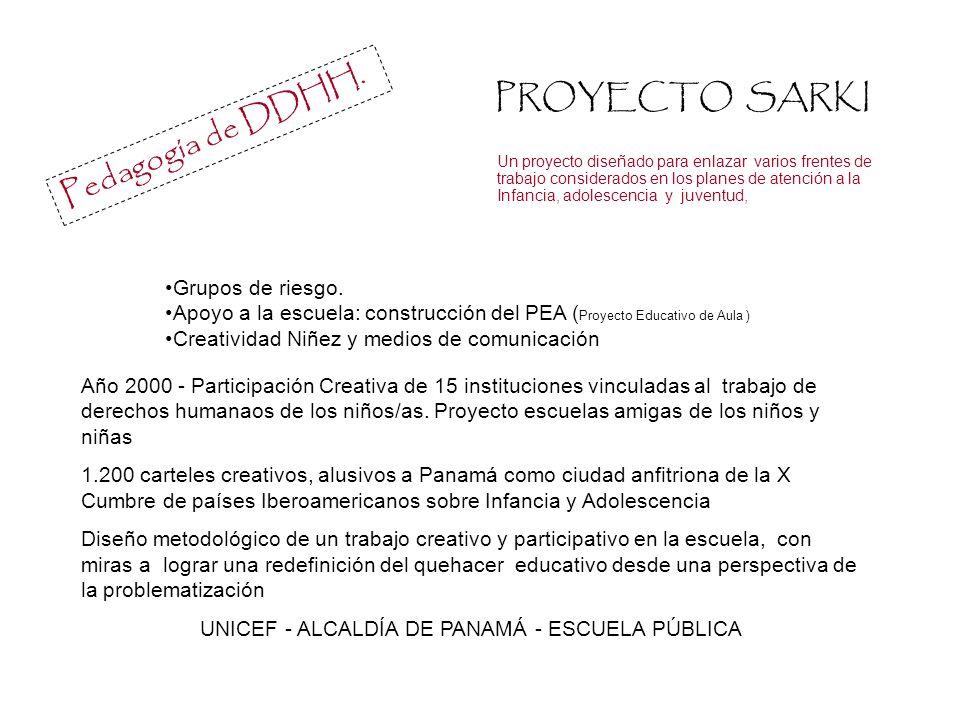 UNICEF - ALCALDÍA DE PANAMÁ - ESCUELA PÚBLICA