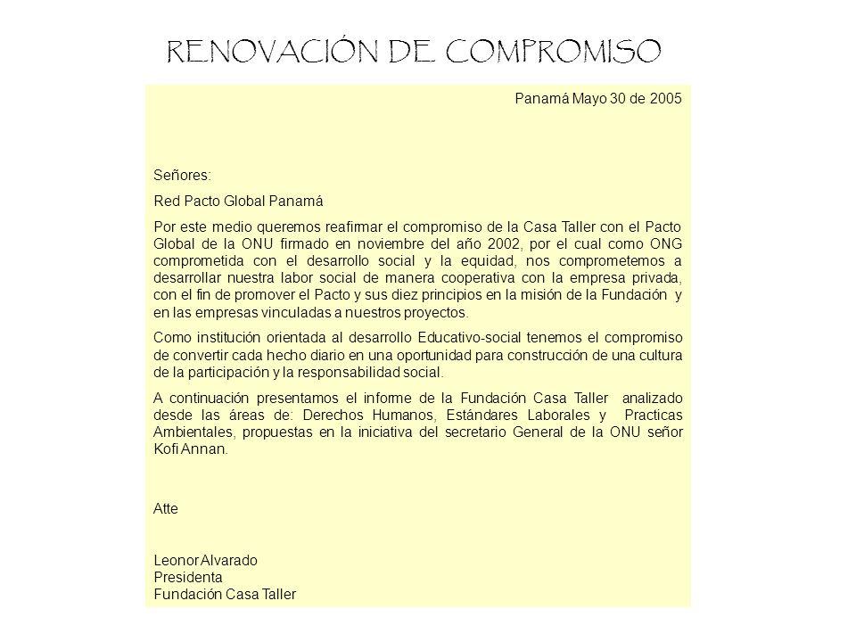RENOVACIÓN DE COMPROMISO
