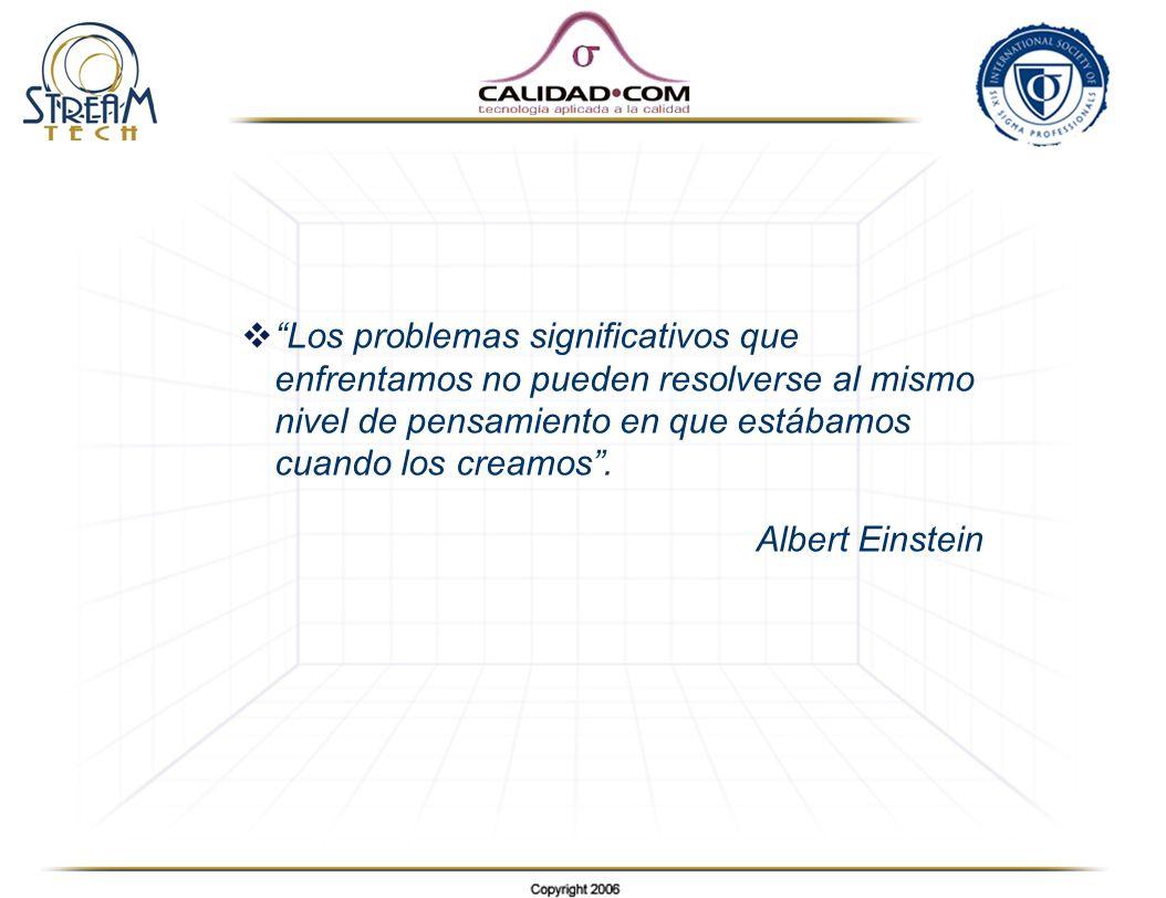 Los problemas significativos que enfrentamos no pueden resolverse al mismo nivel de pensamiento en que estábamos cuando los creamos .