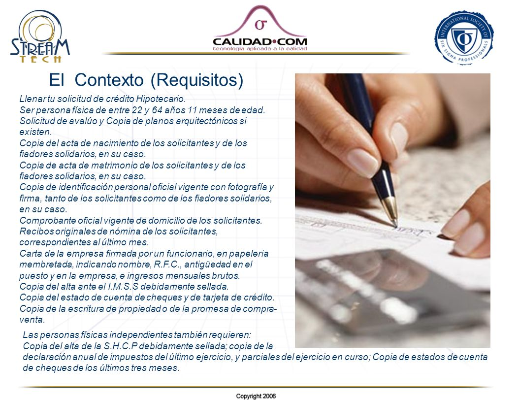 El Contexto (Requisitos)