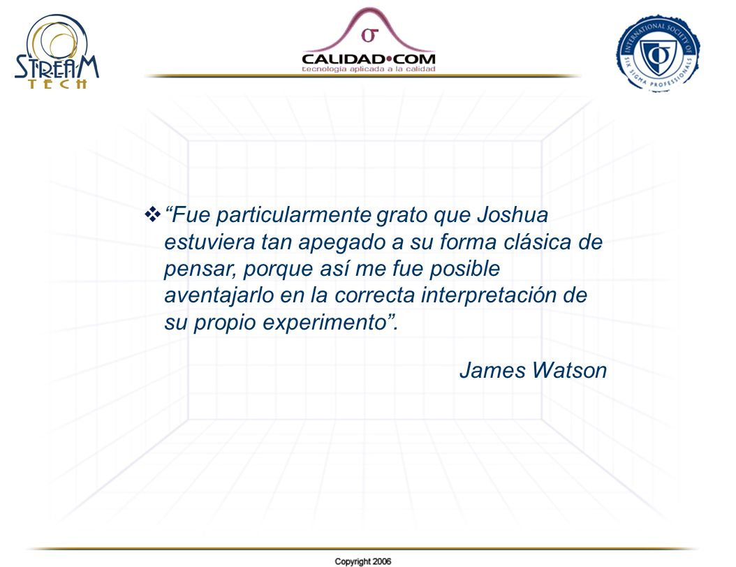 Fue particularmente grato que Joshua estuviera tan apegado a su forma clásica de pensar, porque así me fue posible aventajarlo en la correcta interpretación de su propio experimento .