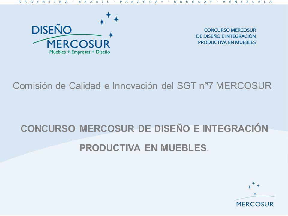 CONCURSO MERCOSUR DE DISEÑO E INTEGRACIÓN PRODUCTIVA EN MUEBLES.