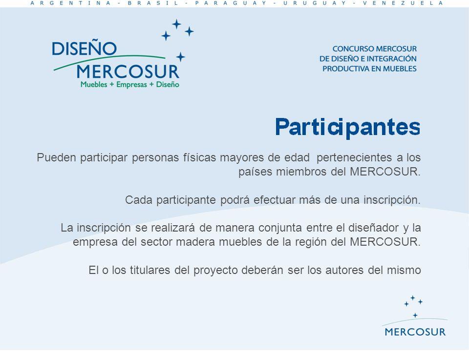 Pueden participar personas físicas mayores de edad pertenecientes a los países miembros del MERCOSUR.