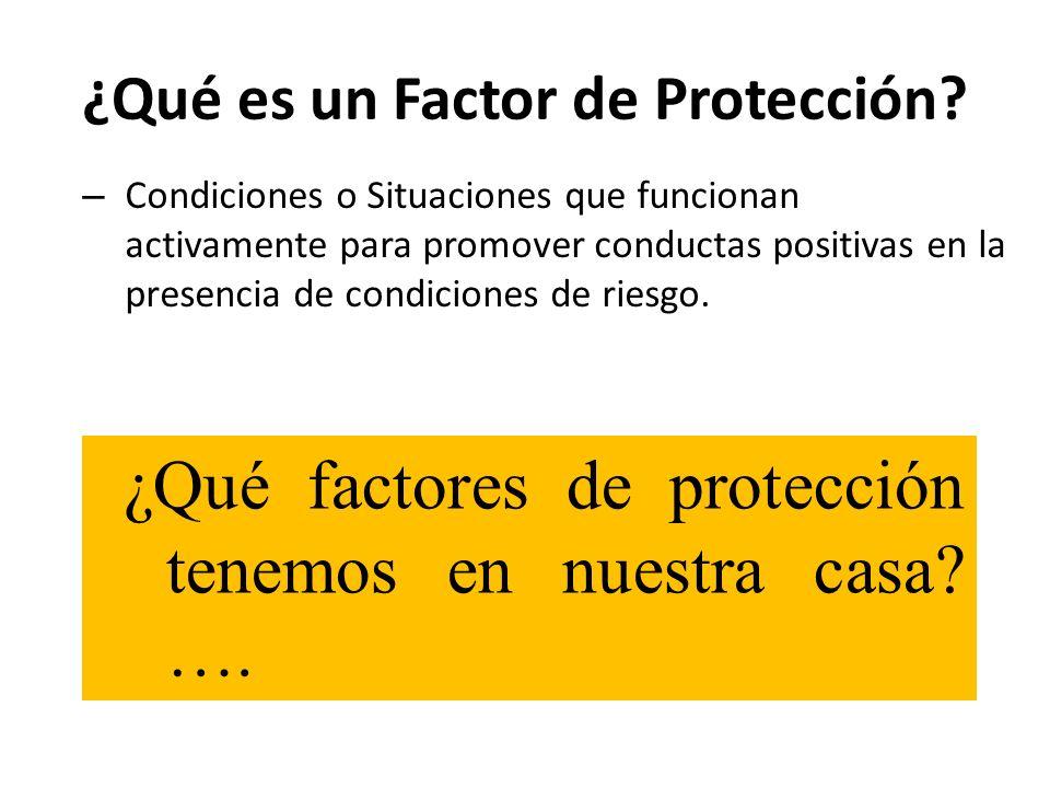 ¿Qué es un Factor de Protección