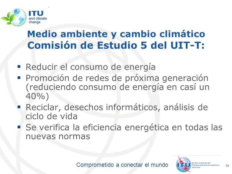 Medio ambiente y cambio climático Comisión de Estudio 5 del UIT-T: