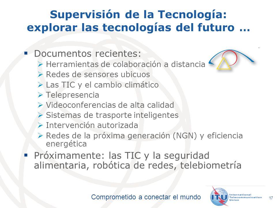 Supervisión de la Tecnología: explorar las tecnologías del futuro …
