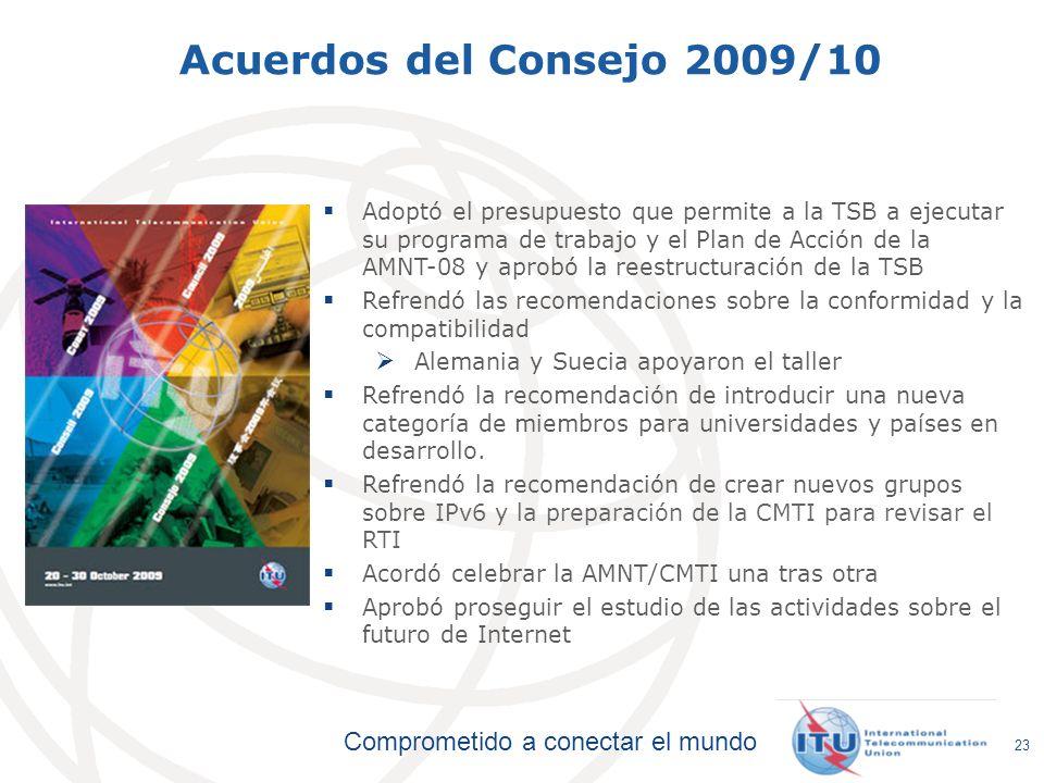 Acuerdos del Consejo 2009/10