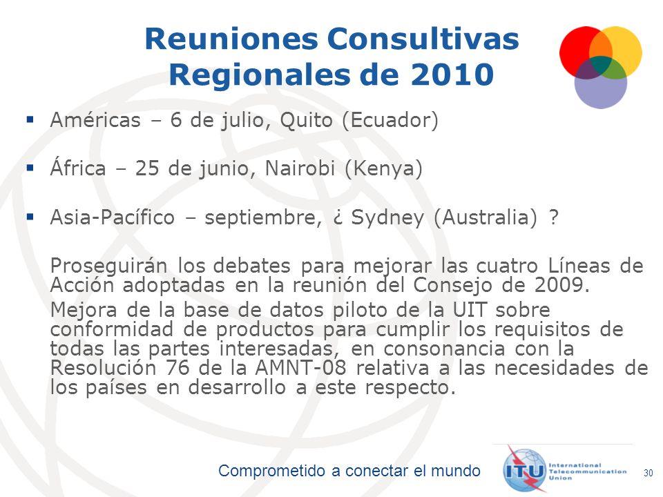 Reuniones Consultivas Regionales de 2010