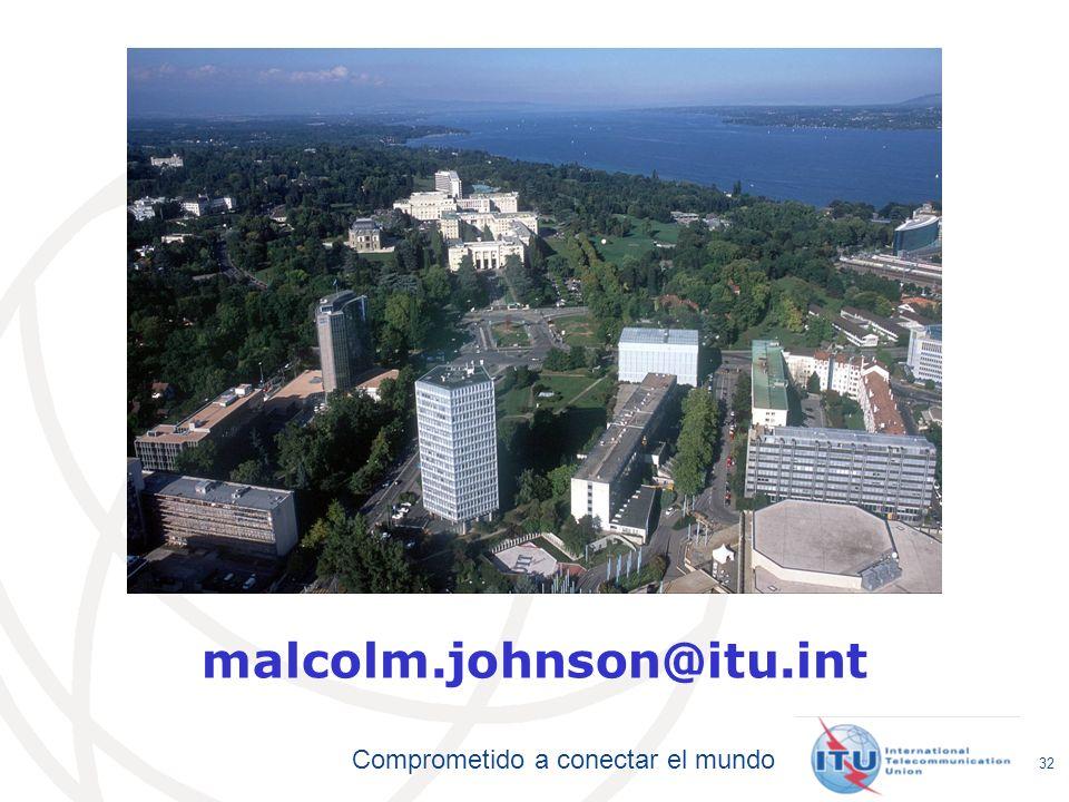 malcolm.johnson@itu.int P:ESP/ITU-T/BUREAU/DIR/288546S.PPTX (288546)