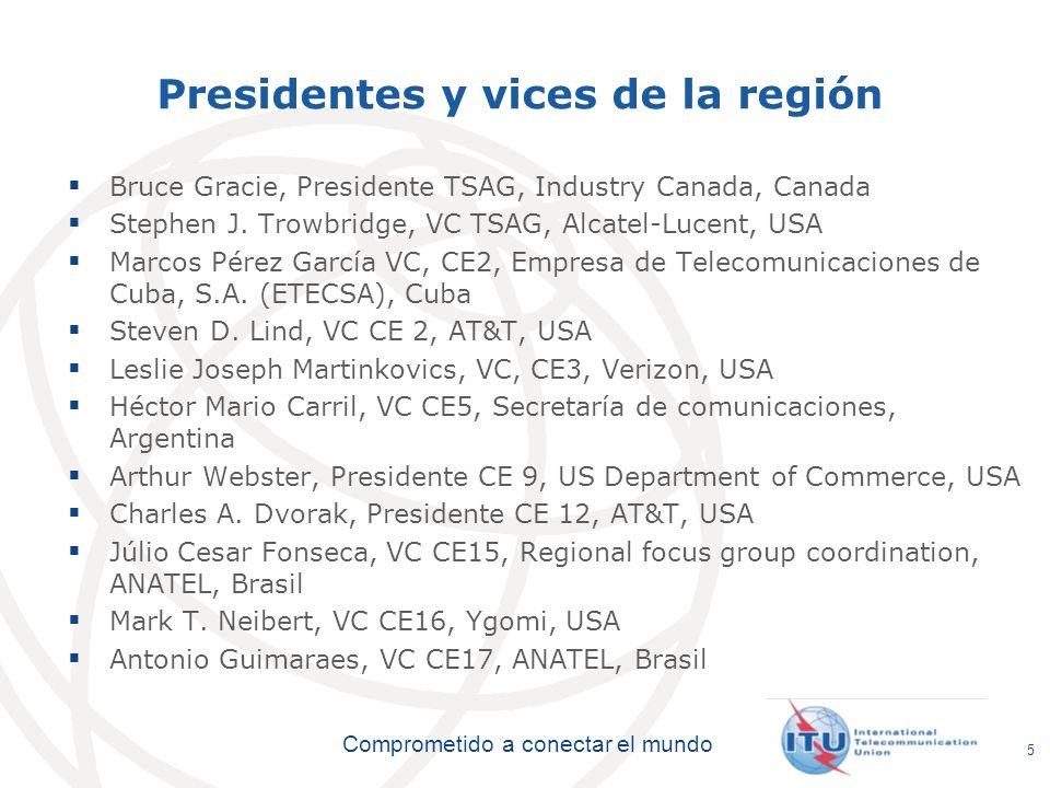 Presidentes y vices de la región