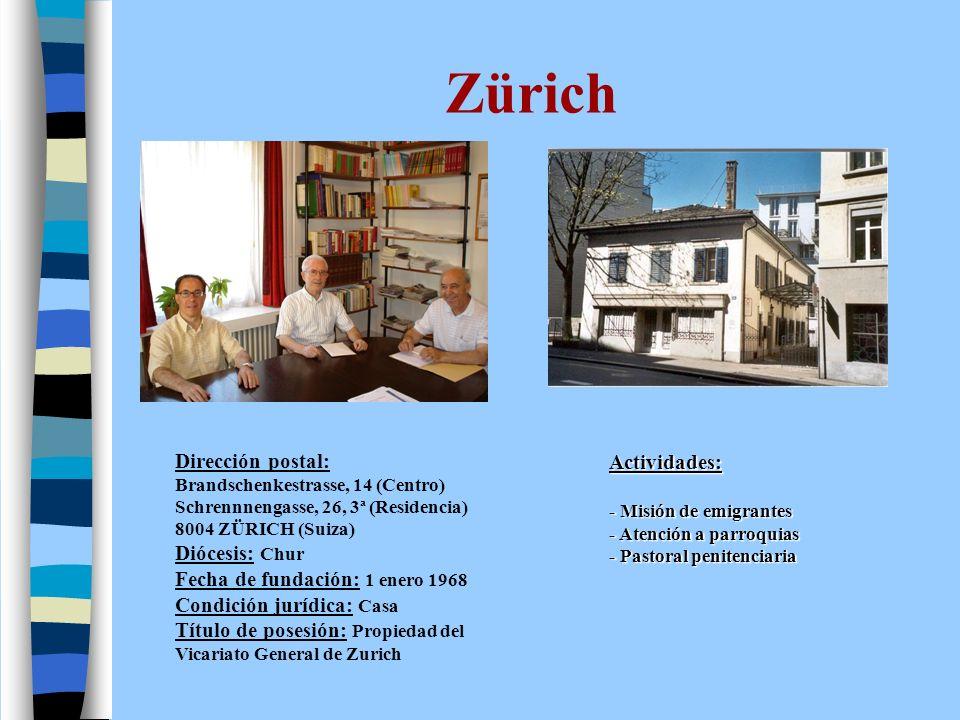 Zürich Dirección postal: Actividades: