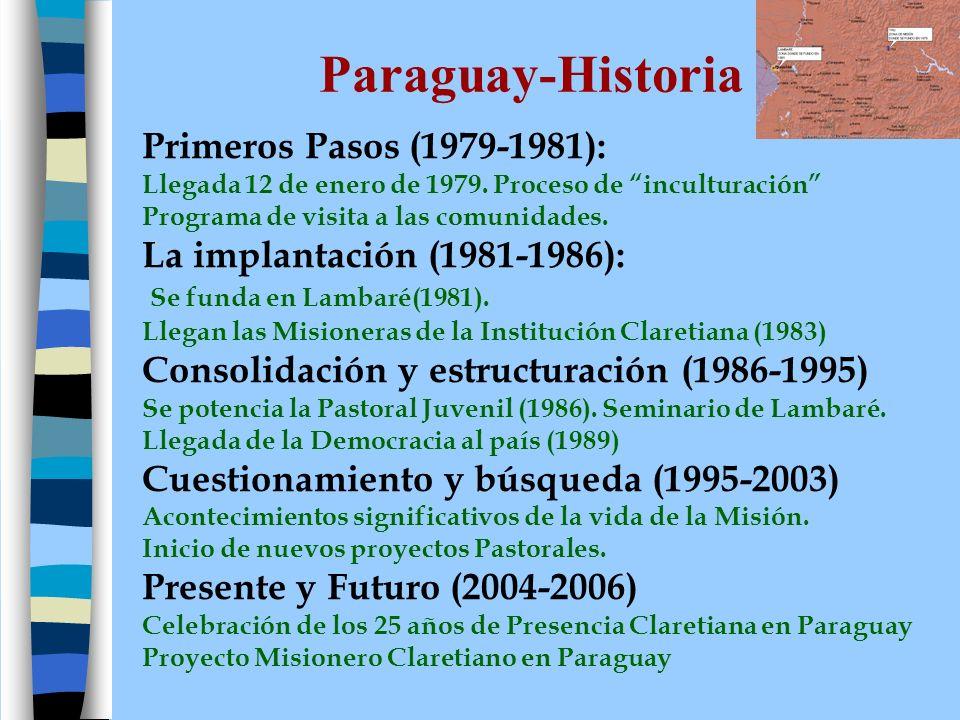 Paraguay-Historia Primeros Pasos (1979-1981):