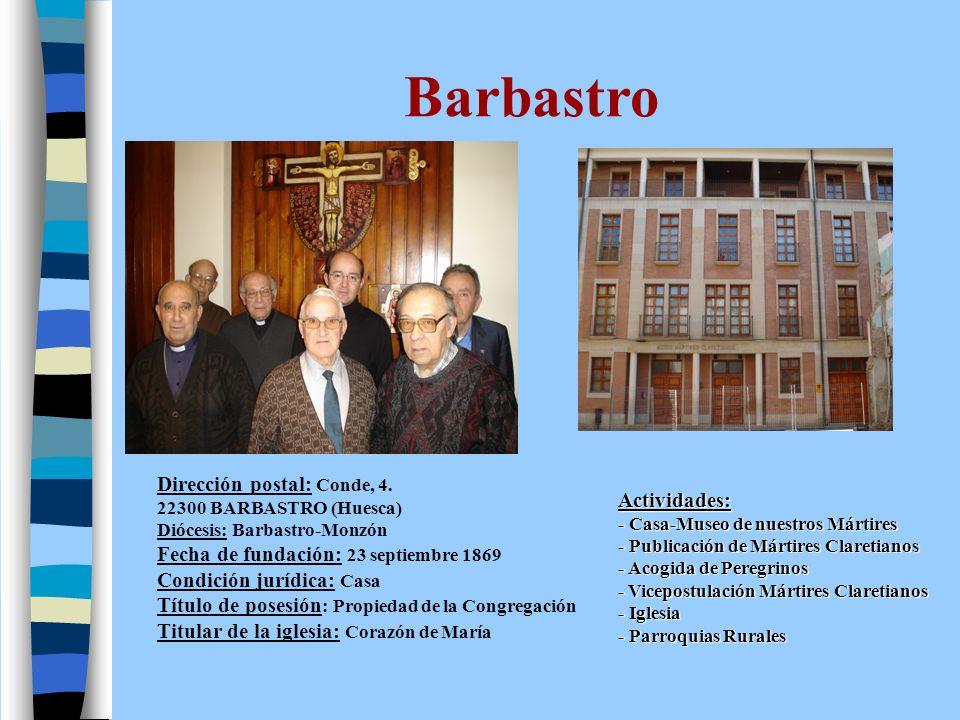 Barbastro Dirección postal: Conde, 4.